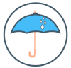 "icône ""parapluie"""