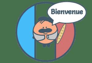 Drapeau Français disant Bienvenue